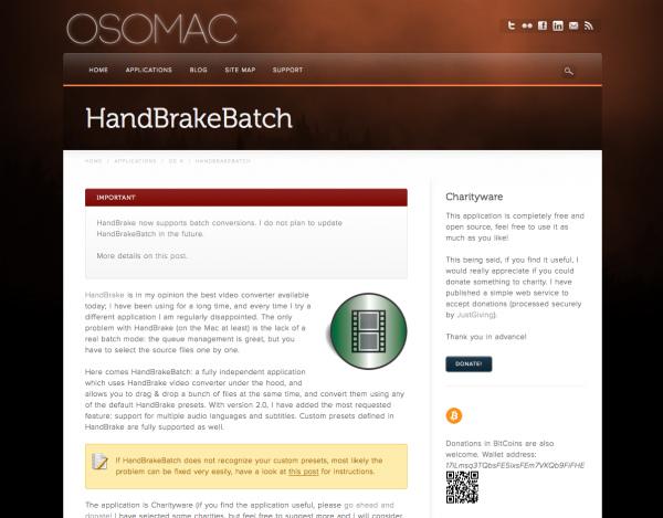 Handbrake batch 15