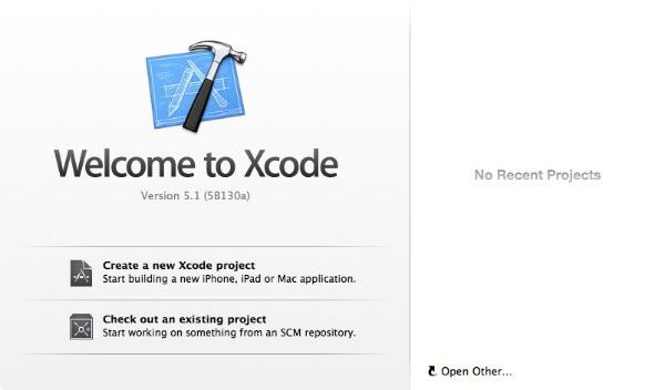 Xcode open 001