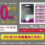 ローソンのバリアブルiTunes Card購入で最大5千円分のiTunesコードがもらえるキャンペーンに応募してみた